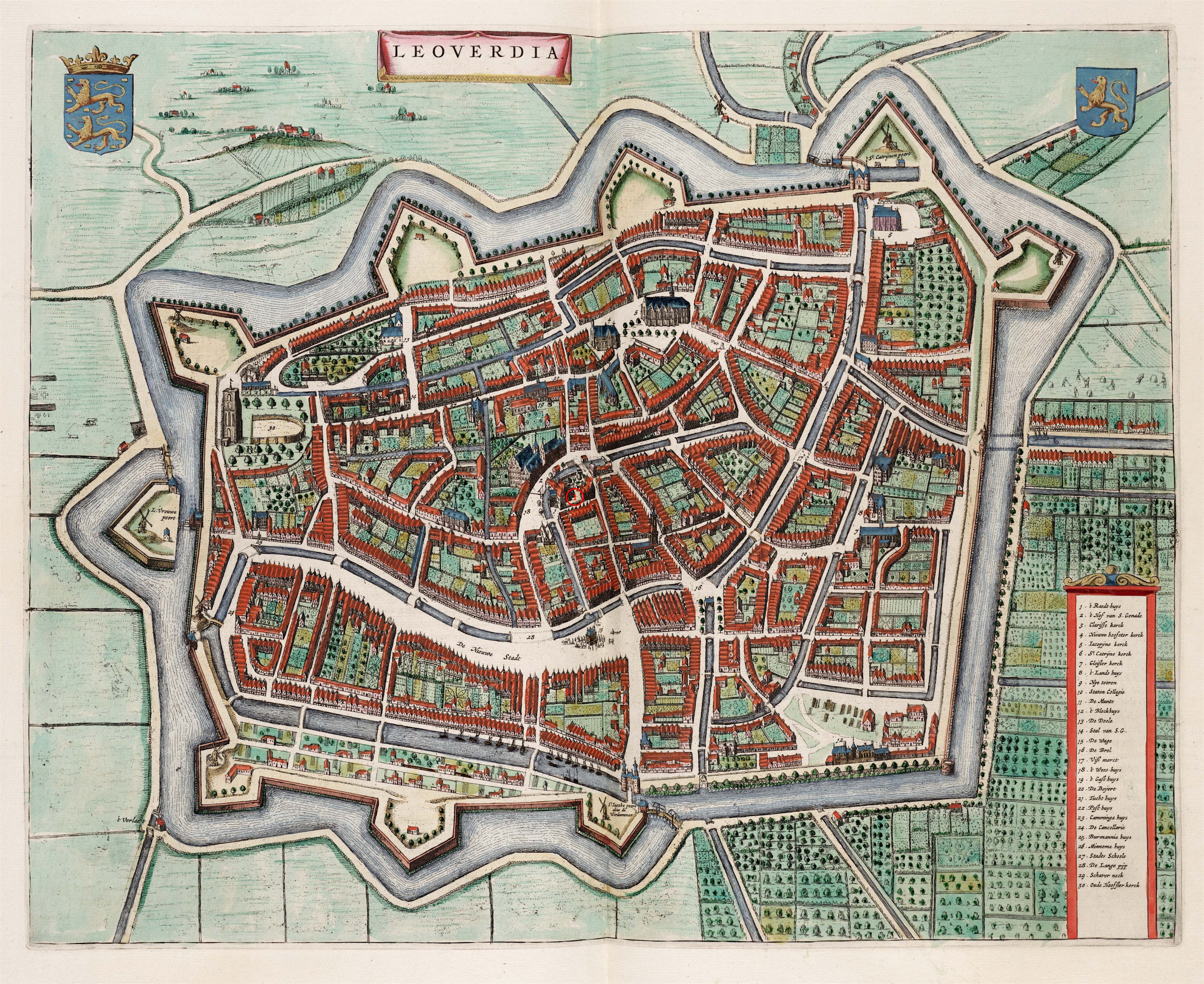 Map of Leeuwarden 1649 The Wives of the Stadtholders an exhibition