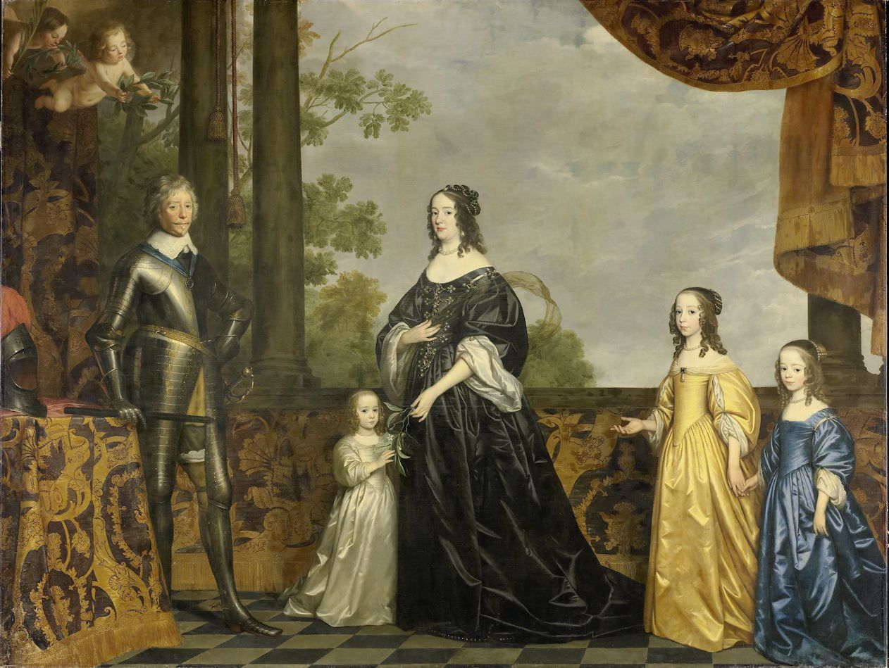Amalia von Solms-Braunfels and Stadtholder Frederik Hendrik van Oranje-Nassau with their three youngest daughters Albertina Agnes, Henrietta Catharina and Maria