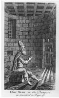 Woodcut of Elias Neau in the Dungeon